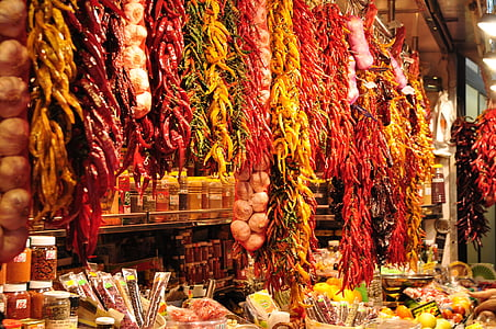 hanging chili pepper vendor