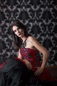 gothic, make-up, woman, studio, goth, makeup