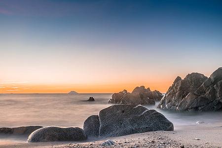 landscape photography of rocks