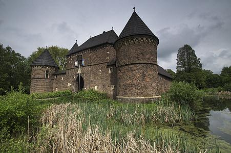 beige concrete castle surround by green grass