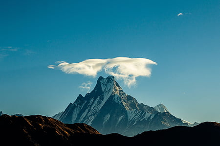 white cloud above mountain
