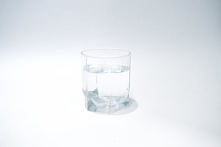 clear rocks glass filled with water