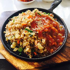 rice dish on skillet