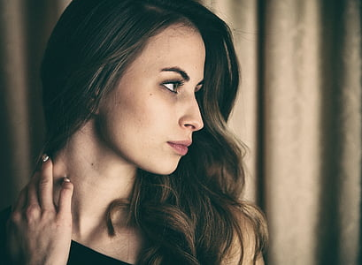 brown haired woman photography