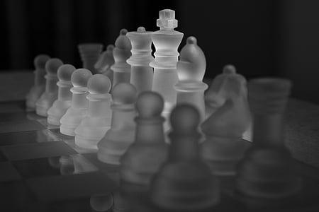 closeup photo of glass chess