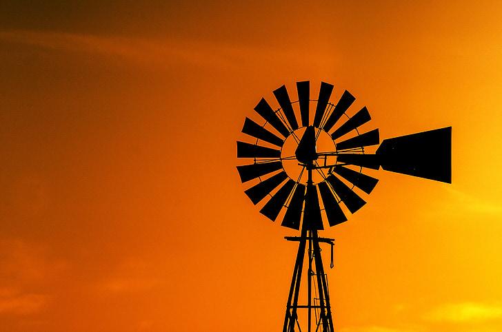 black windmill during dawn