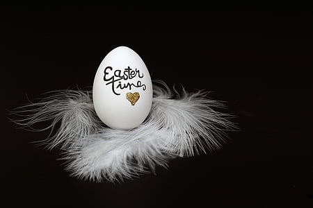 white and black Easter Time easter egg