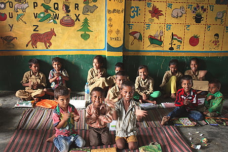 children, different, drawings, faces, happy, rural