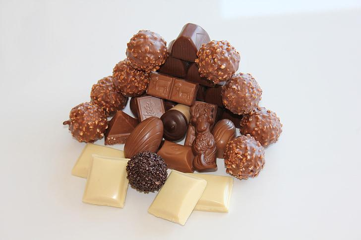 white and brown chocolate bars