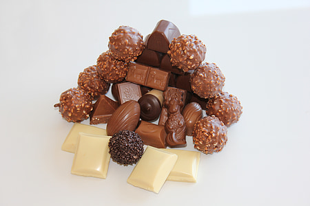 white and brown chocolate bars