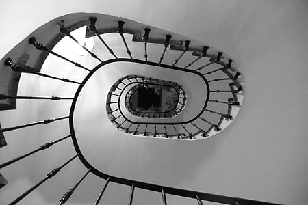 black metal stair