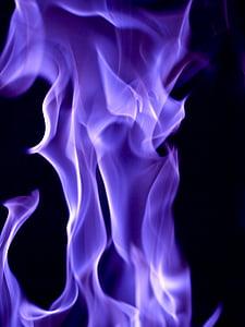 digital wallpaper of purple flame