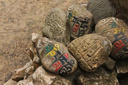 selective focus photography of decorative rocks