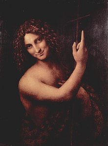 painting of human with long hair