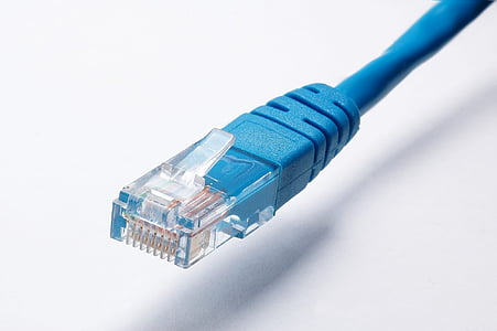 blue Ethernet cable