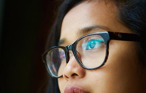 women's black framed eyeglasses