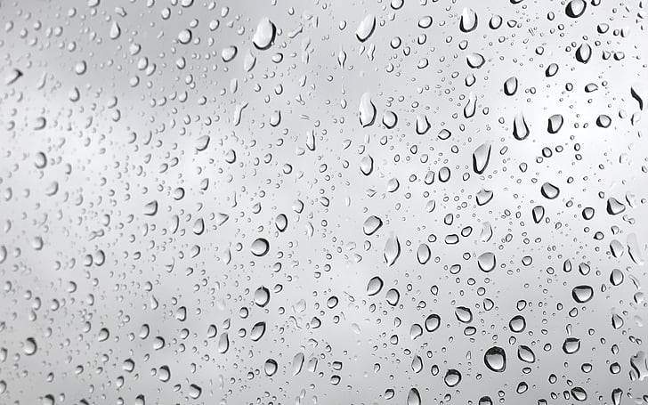 water droplets on mirror
