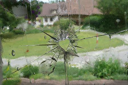 photo of broken glass