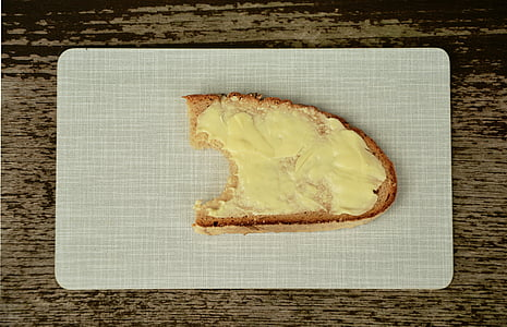bread and butter, bread, butter, bitten, nutrition, food