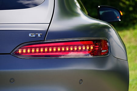 close-up photo of GT vehicle taillight