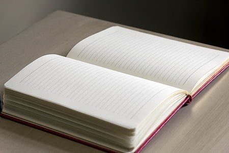 white book with red cover