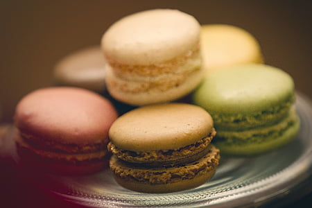 tilt photography of macaroons