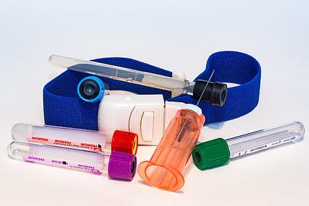 medical tube and syringe
