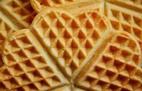 macro shot photography of waffle