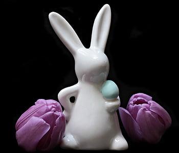 white rabbit ceramic figuirne