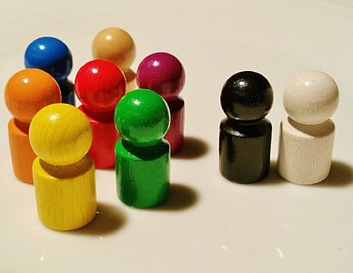 assorted-color wooden pieces