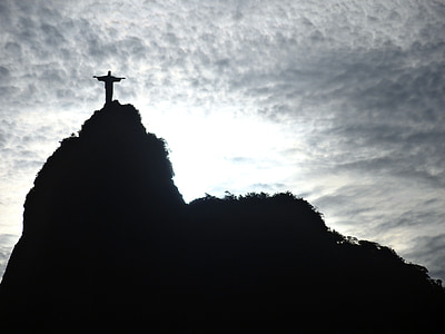 silhouette of Christ The Redeemer