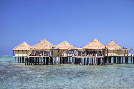 huts on seawater