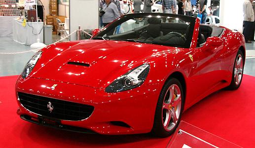 red Ferrari convertible coupe