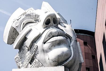 human face statue