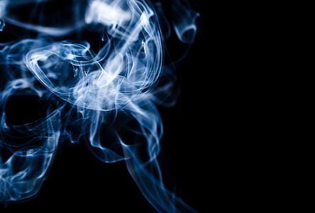 smoke on dark