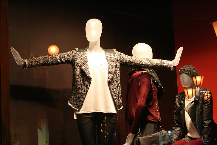 mannequin wearing clothes display