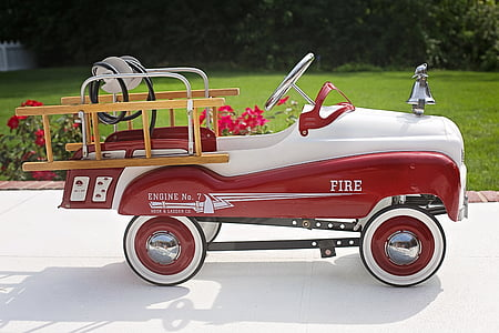 red and white Fire vehicle