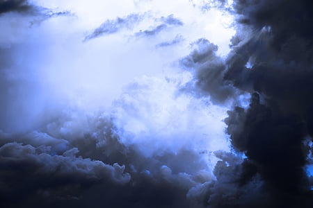 gray clouds photo