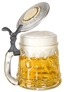 clear cut glass beer stein