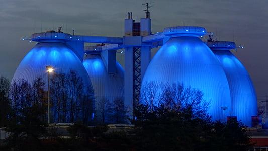 blue concrete structure