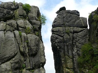 rock cliff under blue sky