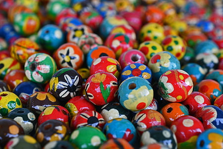 photo of painted bead lot