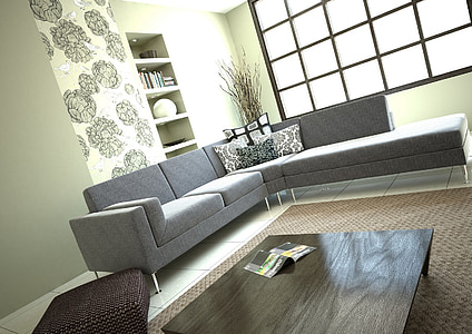photo of gray sectional couch
