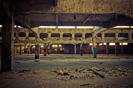 photography of abandoned concrete structure