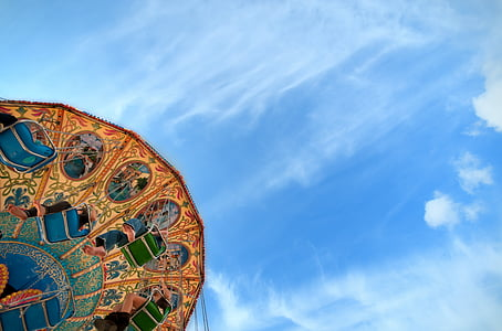 carousel, ride, western fair, merry-go-round, amusement, park