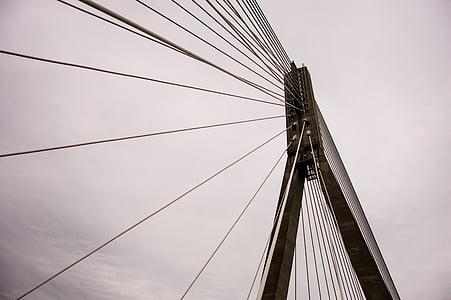 black bridge tower during daytime