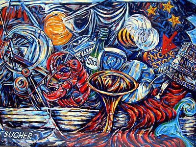 multicolored abstract artwork closeup photo