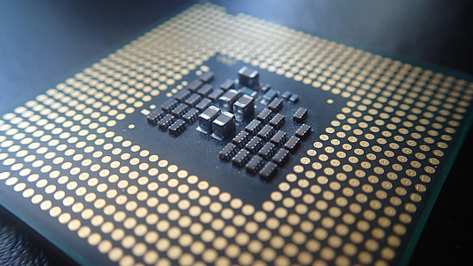 macro photography of computer processor