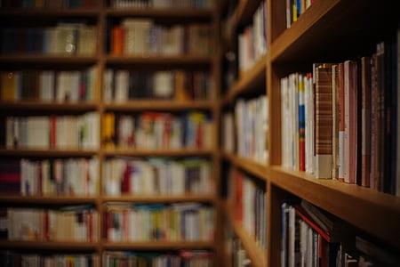 brown bookcase