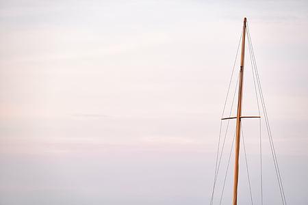 brown sail pole